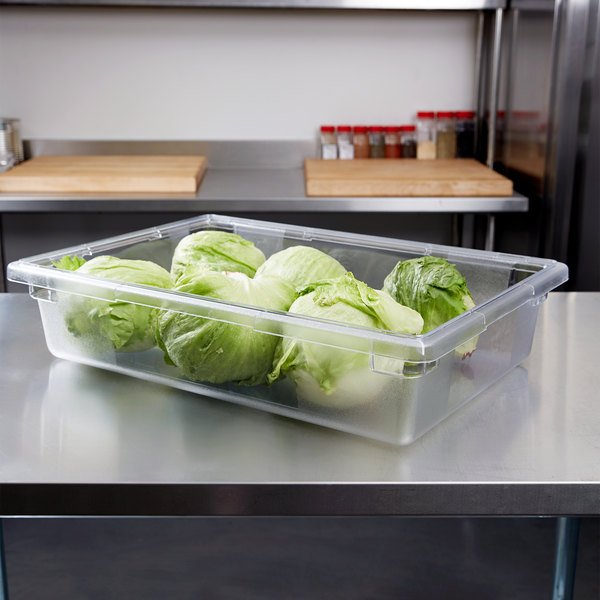 "Carlisle 1062107 StorPlus 26"" x 18"" x 6"" Clear Food Storage Box Main Image 7"