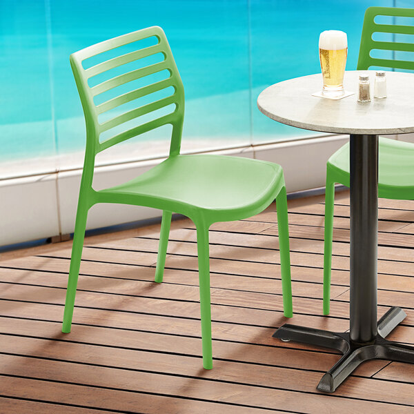 Lancaster Table & Seating Allegro Pistachio Resin Side Chair Main Image 5
