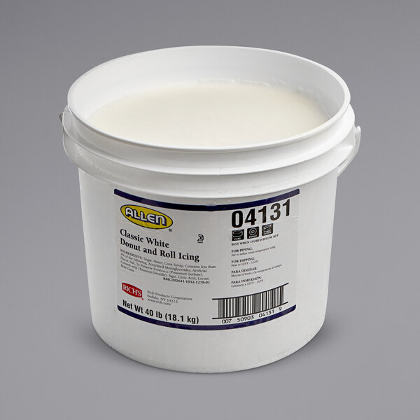 Rich's Allen 40 lb. Classic White Donut & Roll Icing Main Image 1