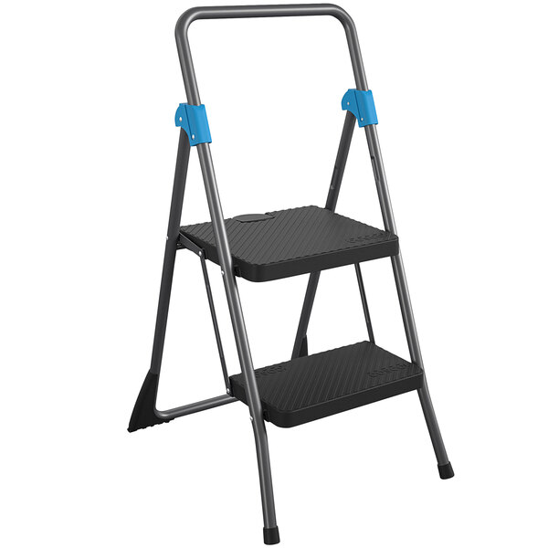 Cosco 11829GGB Commercial Gray 2-Step Folding Step Stool Main Image 1