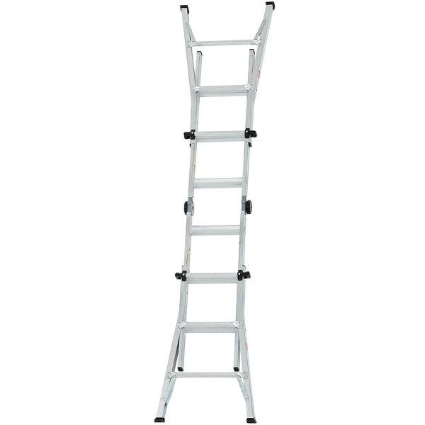 Cosco 20214T1ASE Aluminum Telescoping 14' Max Reach Multi-Position Ladder Main Image 1