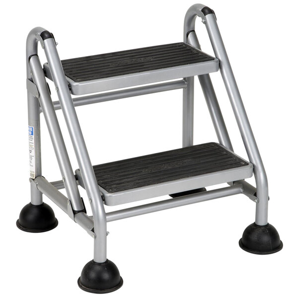 Cosco 11824GGB1 2-Step Commercial Rolling Step Ladder Main Image 1