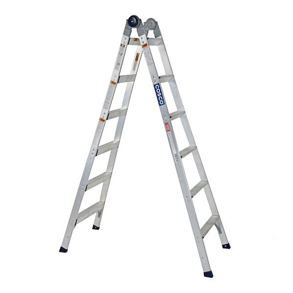 Cosco 20212T1ASE 2-in-1 Aluminum 16' Max Reach 12-Step Multi-Position Step and Extension Ladder Main Image 1