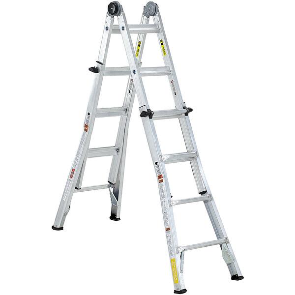 Cosco 20218T1ASE Aluminum Telescoping 18' Max Reach Multi-Position Ladder Main Image 1