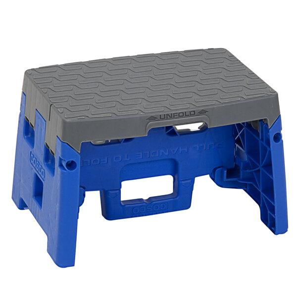 Cosco 11903BGR1E 1-Step Blue and Gray Molded Folding Step Stool Main Image 1