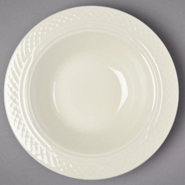 Homer Laughlin by Steelite International HL3417000 Gothic 10.5 oz. Ivory (American White) China Grapefruit Bowl / Dish - 36/Case Main Image 1