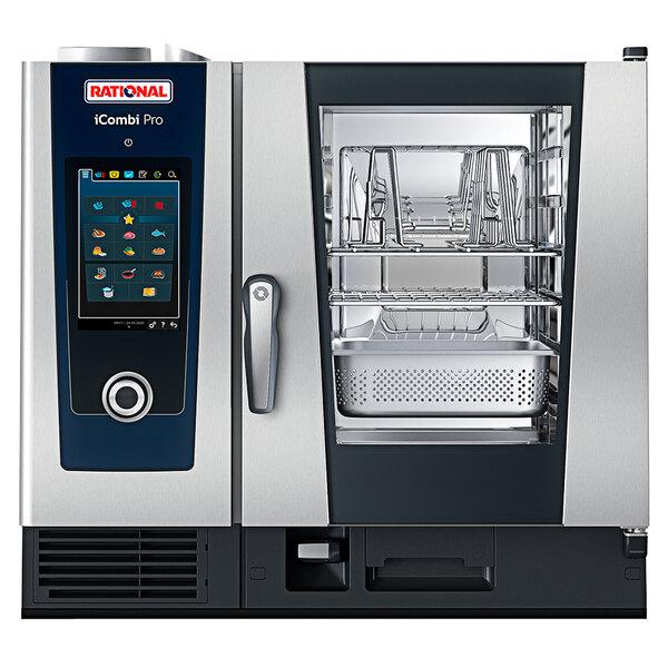 Rational iCombi Pro 6 Pan Half-Size Liquid Propane Combi Oven - 208/240V Main Image 1