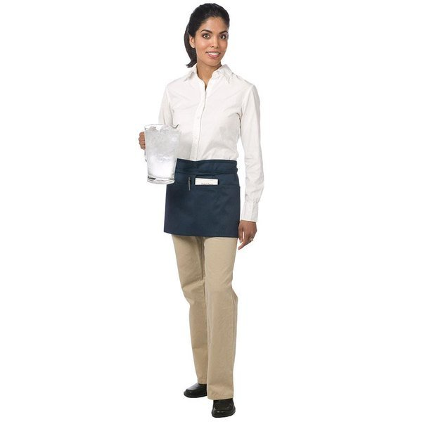 Chef Revival 605WAFH-NV Customizable Navy Front of the House Waist Apron - 12 inchL x 24 inchW