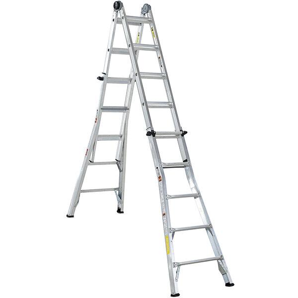 Cosco 20222T1ASE Aluminum Telescoping 22' Max Reach Multi-Position Ladder Main Image 1