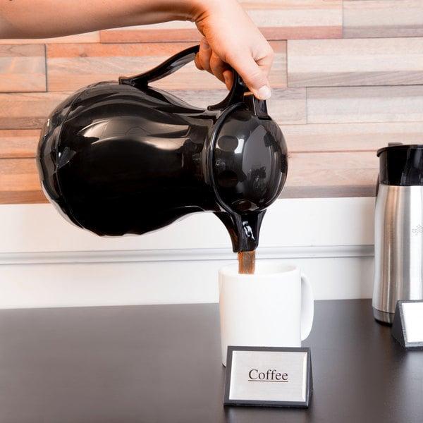 Choice 64 oz. Black Thermal Swirl Coffee Carafe / Server Main Image 3