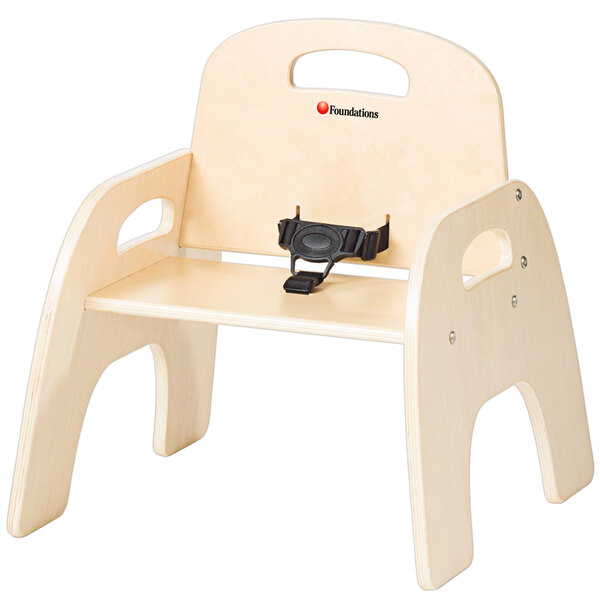 """Foundations 4809047 Simple Sitter 9"""" Natural Wood Feeding Chair Main Image 1"""