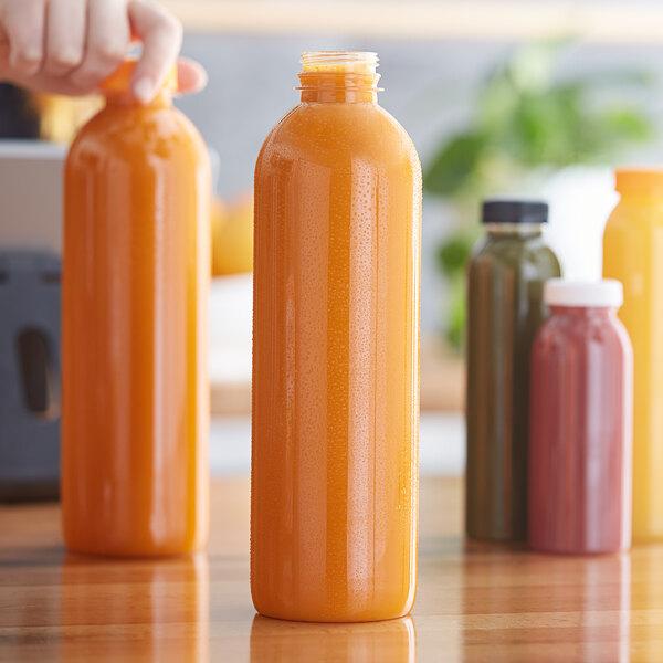32 oz. Round PET Clear Juice Bottle - 189/Bag Main Image 2
