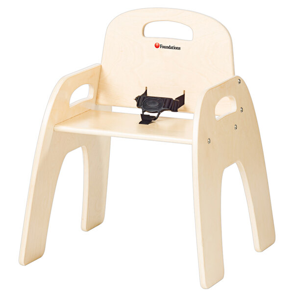 """Foundations 4803047 Simple Sitter 13"""" Natural Wood Feeding Chair Main Image 1"""