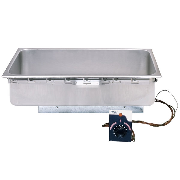 APW Wyott TMD Size Uninsulated One Pan Drop In Hot Food Well With - 4 well gas steam table