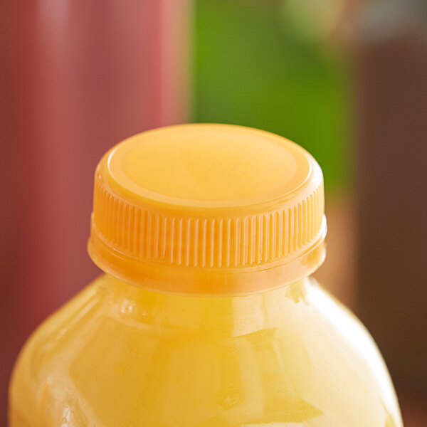 Orange Tamper-Evident Cap for Juice Bottles - 2500/Case Main Image 2