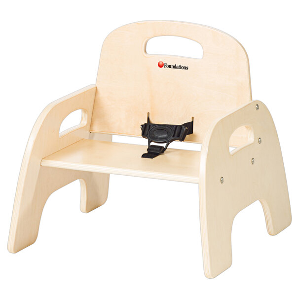 """Foundations 4807047 Simple Sitter 7"""" Natural Wood Feeding Chair Main Image 1"""