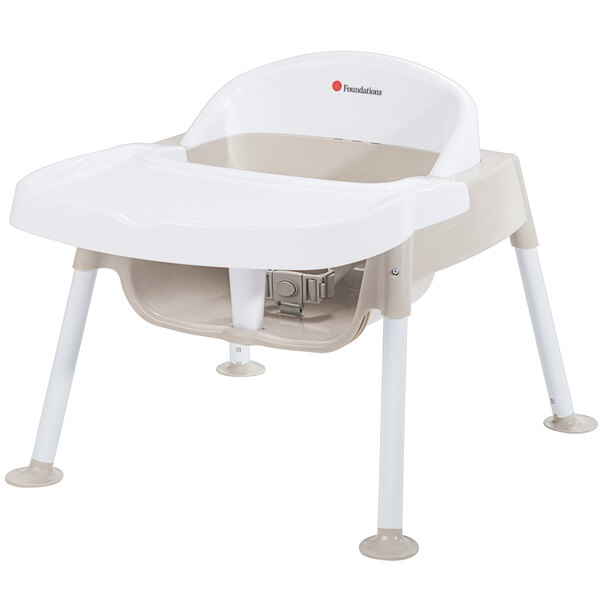 """Foundations 4607247 Secure Sitter 7"""" White / Tan Feeding Chair with Non-Slip Feet Main Image 1"""