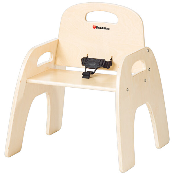 """Foundations 4801047 Simple Sitter 11"""" Natural Wood Feeding Chair Main Image 1"""