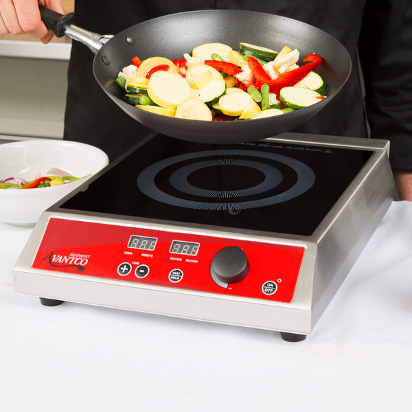 Avantco IC1800 Countertop Induction Range / Cooker - 120V, 1800W