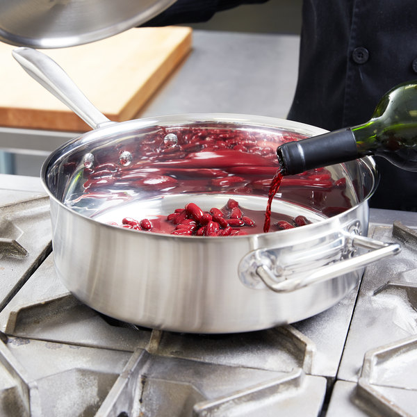 Vollrath 47746 Intrigue 6 Qt. Saute Pan with Helper Handle