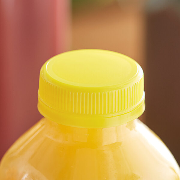 Yellow Tamper-Evident Cap for Juice Bottles - 2500/Case Main Image 2