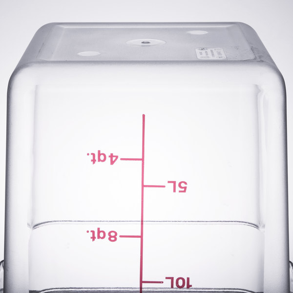 Cambro 18sfscw135 Camsquare 18 Qt Clear Food Storage