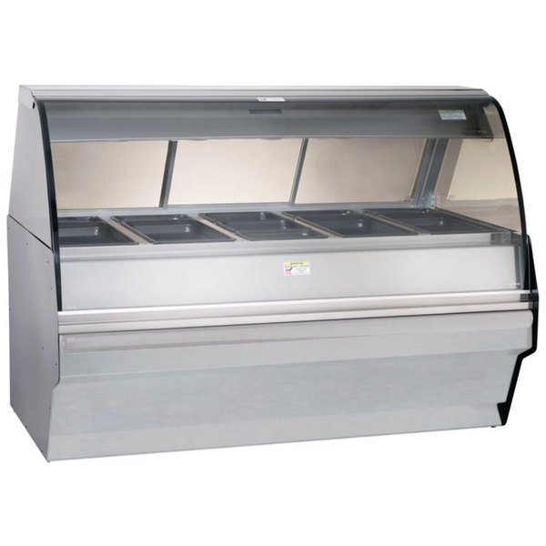 """Alto-Shaam TY2SYS-72 SS Stainless Steel Heated Display Case with Curved Glass and Base - Full Service 72"""""""