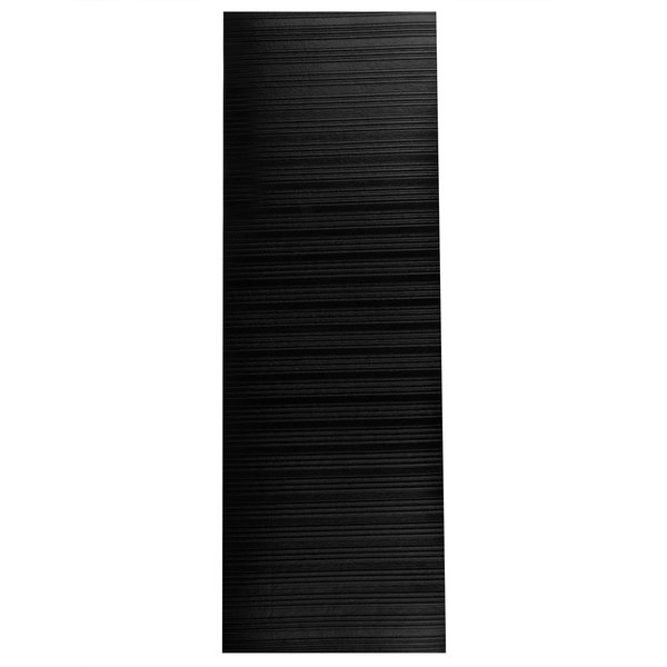 "Cactus Mat 1025R-C6 Tredlite 6' Wide Black Ribbed Vinyl Anti-Fatigue Mat - 3/8"" Thick"
