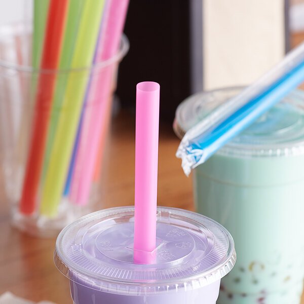 """Choice 8 1/2"""" Colossal Neon Wrapped Straw - 1600/Case Main Image 2"""