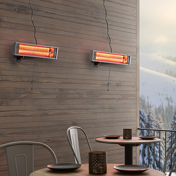 Backyard Pro Courtyard Series Silver Electric Outdoor Patio Heater - 120V, 1500W Main Image 3