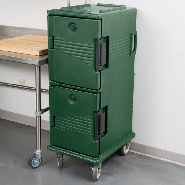 Cambro UPC800519 Green Camcart Ultra Pan Carrier - Front Load