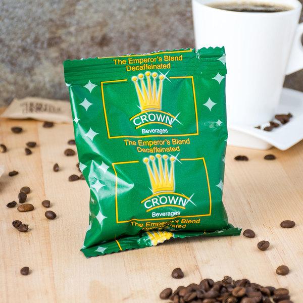 Crown Beverages 2 oz. Emperor's Blend Decaf Coffee Packet - 80/Case