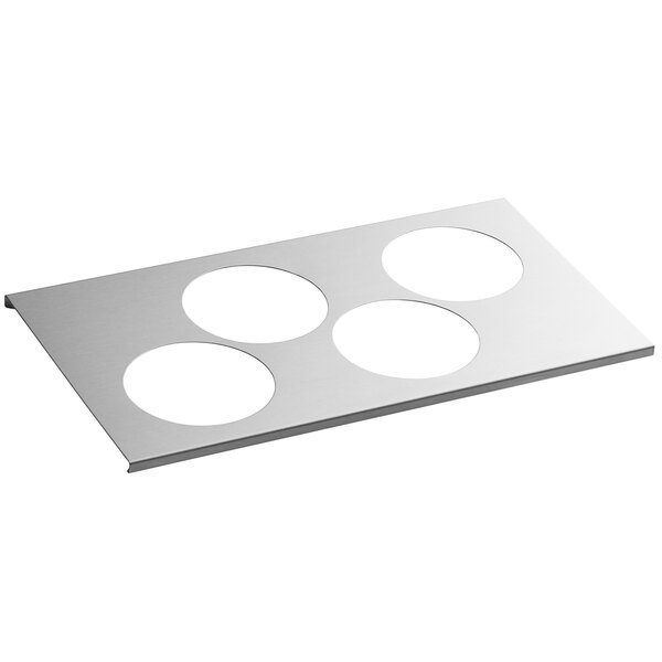 FIFO Innovations 280-2111 Stainless Steel 4 Hole Squeeze Bottle Holder for 1/3 Size Pan Main Image 1
