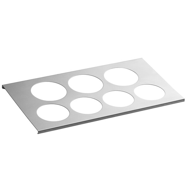 FIFO Innovations 7010-700 Equivalent FIFO Innovations 280-1625 Stainless Steel 7 Hole Squeeze Bottle Holder for 1/3 Size Pan Main Image 1
