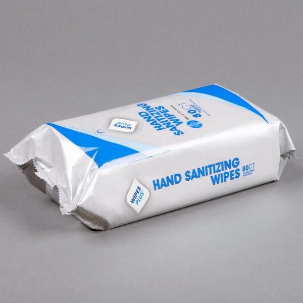 WipesPlus Lemon Scent Alcohol Free Hand Sanitizing Wipes