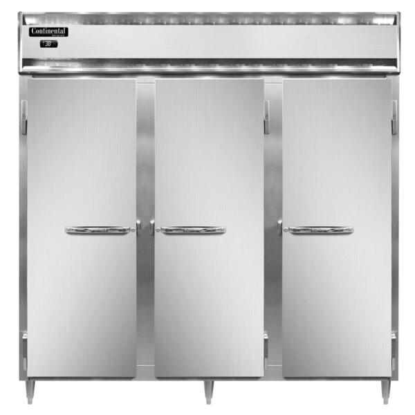 "Continental Refrigerator D3RN 78"" Solid Door Reach-In Refrigerator Main Image 1"
