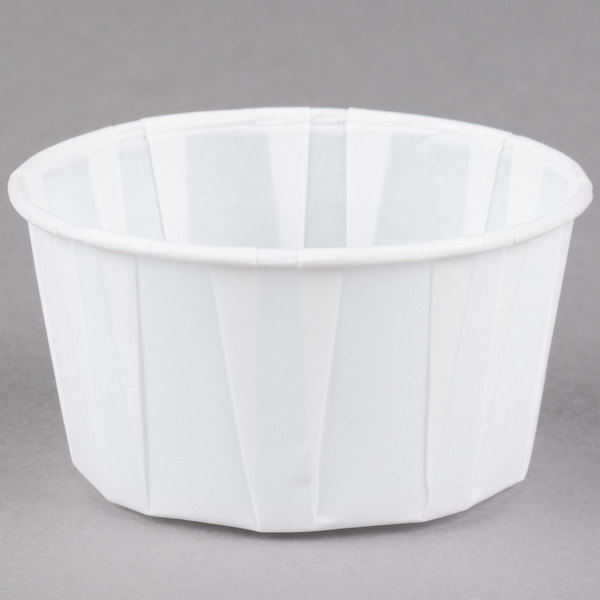 Dart Solo SCC400 4 oz. White Paper Souffle / Portion Cup  - 250/Pack