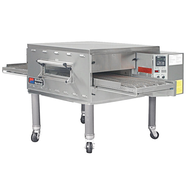 """Middleby Marshall PS536NAT 60"""" Stainless Steel Natural Gas Conveyor Oven with 18"""" Wide Belt - 75,000 BTU, 208V Main Image 1"""
