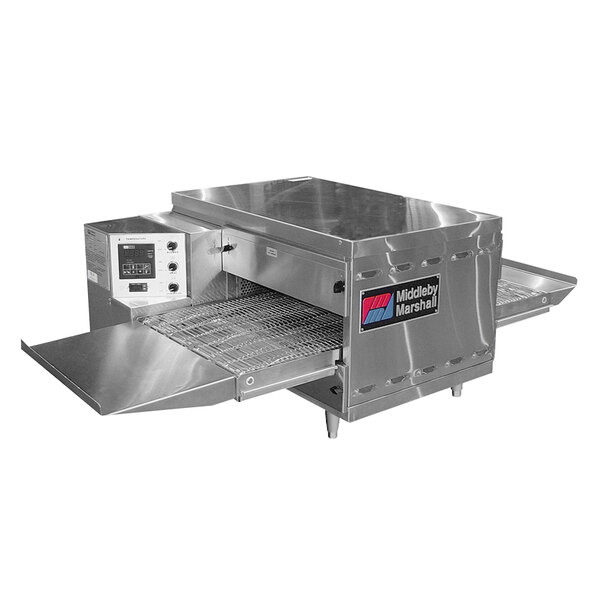"Middleby Marshall PS520NAT 42"" Stainless Steel Natural Gas Countertop Conveyor Oven with 18"" Wide Belt - 40,000 BTU, 208V Main Image 1"
