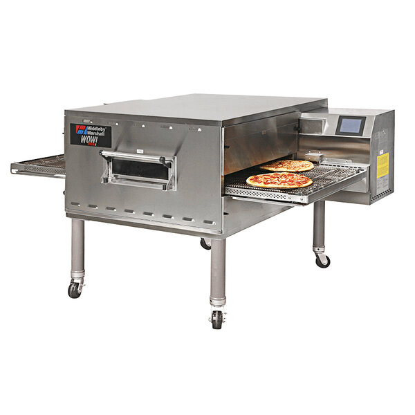 """Middleby Marshall PS540LP 80"""" Stainless Steel Liquid Propane Gas Conveyor Oven - 120V, 1 Phase Main Image 1"""