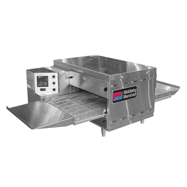 """Middleby Marshall PS520LP 42"""" Stainless Steel Liquid Propane Gas Countertop Conveyor Oven with 18"""" Wide Belt - 40,000 BTU, 208V Main Image 1"""