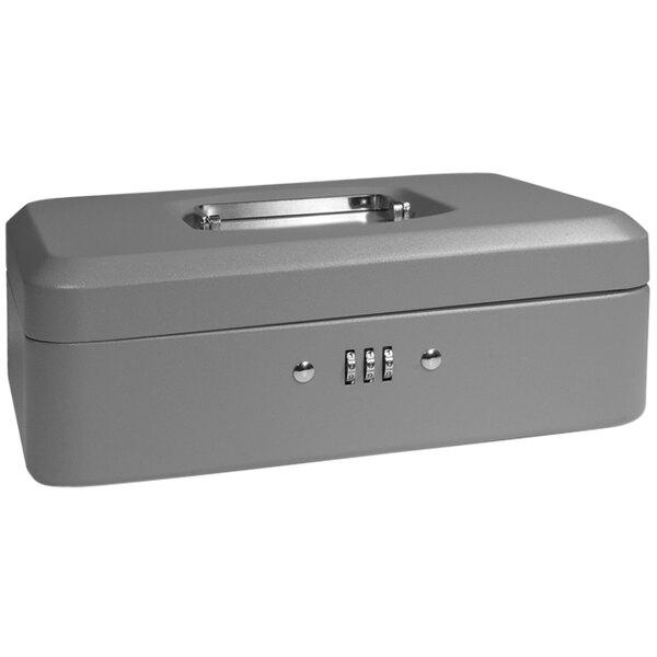 "Barska CB11786 10"" x 7 1/8"" x 3 9/16"" Medium Gray Steel Cash Box with Combination Lock and Handle Main Image 1"