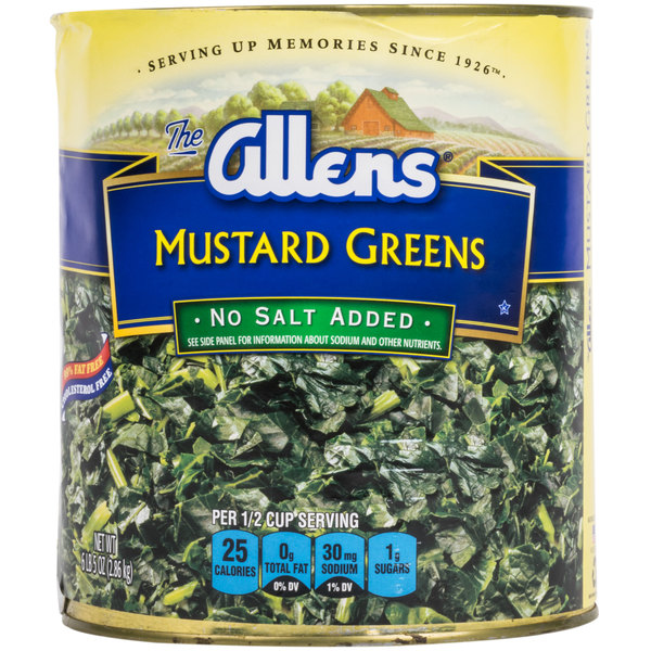Chopped Mustard Greens - #10 Can