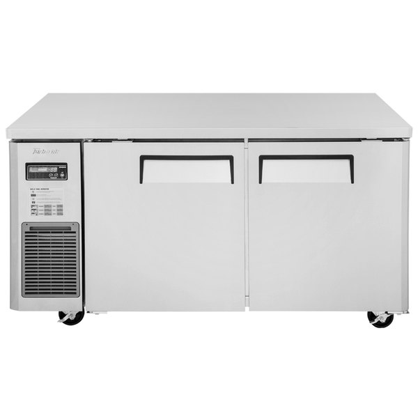 """Turbo Air JUR-60 J Series 60"""" Solid Door Undercounter Refrigerator with Side Mounted Compressor"""