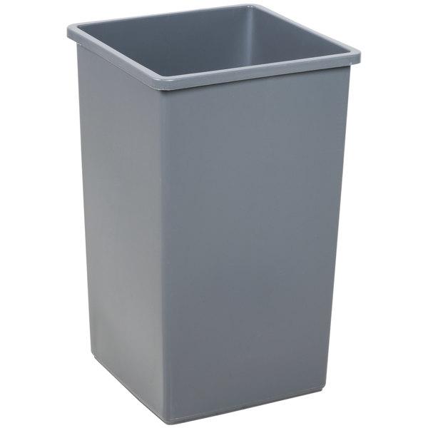 Continental 25GY Swingline 25 Gallon Gray Square Trash Can