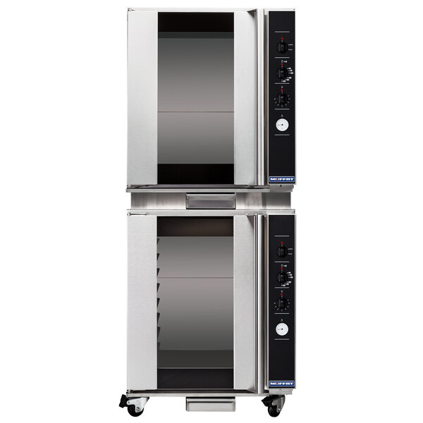 """Moffat USP8M/2 Turbofan Double Deck Full Size 8 Tray Electric Holding Cabinet / Proofer with Mechanical Controls and Compact 28 7/8"""" Width - 110-120V Main Image 1"""