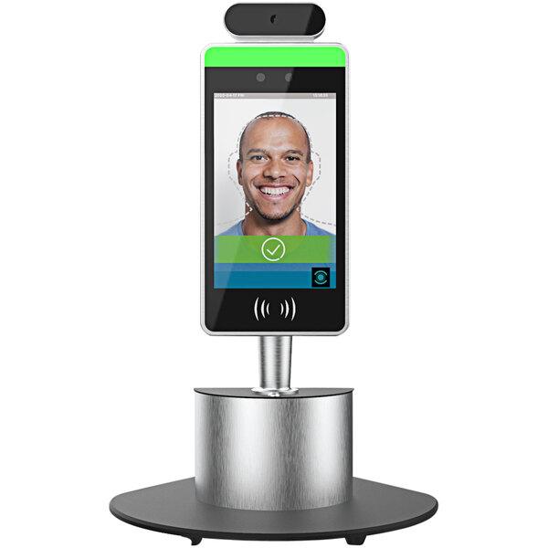 Meridian PMK01A-P00D00 Facial Recognition / Temperature Scanner Personnel Management Kiosk with Counter Top Pedestal Main Image 1
