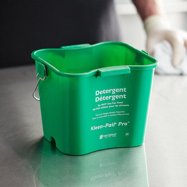 San Jamar KPP97GN 3 Qt. Green Cleaning Kleen-Pail Pro Main Image 2