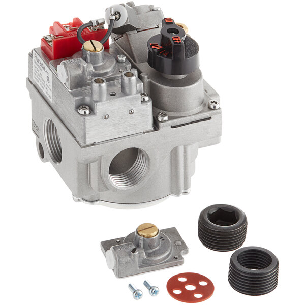"""Millivolt Natural Gas / Liquid Propane Pilot Combination Valve for Fryers; 3/4"""" Gas In / Out Main Image 1"""