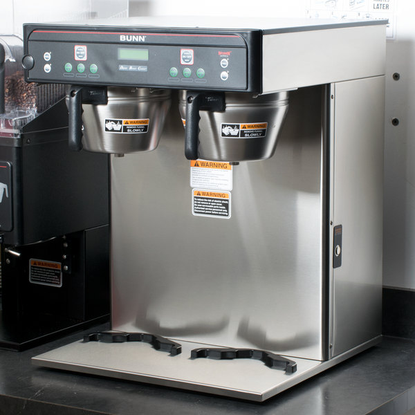 Bunn 37600.0002 BrewWISE ICB-TWIN Dual Infusion Series Stainless Steel Coffee Brewer - 120/208V
